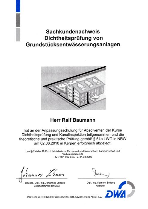 Kamen Rohrreinigung Baumann